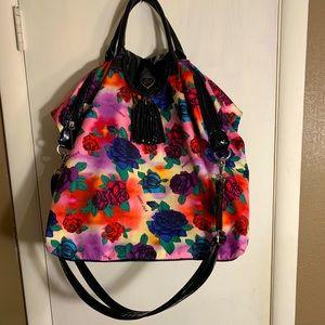 Betsey Johnson floral weekender bag